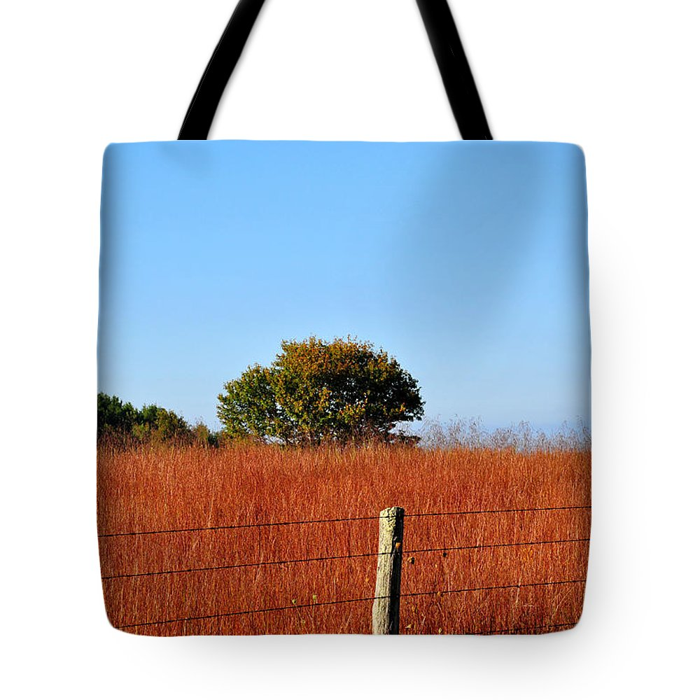 Fall Tote Bag featuring the photograph Fall Field by Todd Hostetter