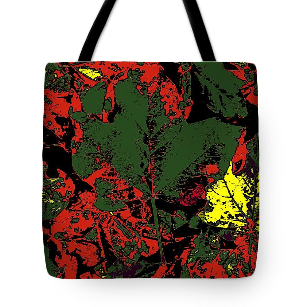 Fall Tote Bag featuring the digital art Fall Flourish 2 by Tim Allen
