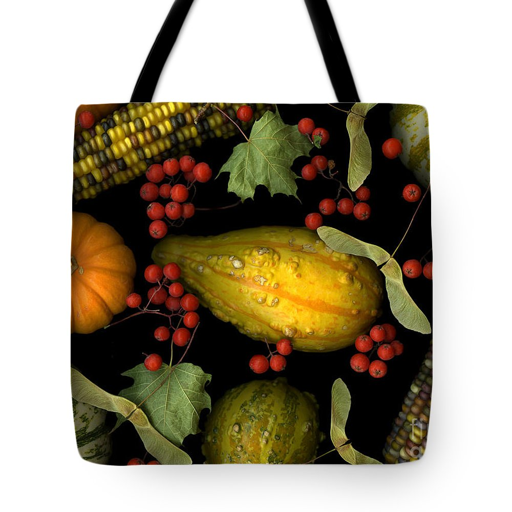Slanec Tote Bag featuring the photograph Fall Harvest by Christian Slanec