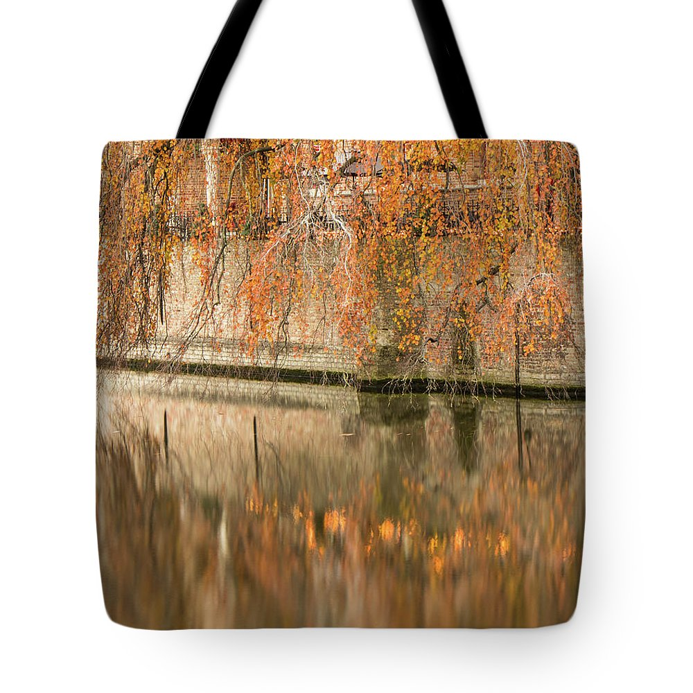 Fall Tote Bag featuring the photograph Fall in Bruges, Belgium by Dalibor Hanzal