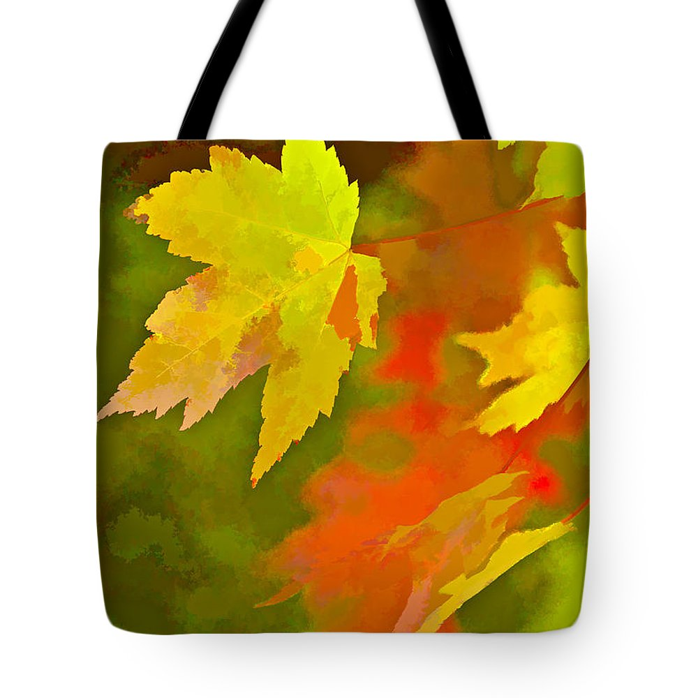 Fall Tote Bag featuring the digital art Fall Of Leaf by Ches Black