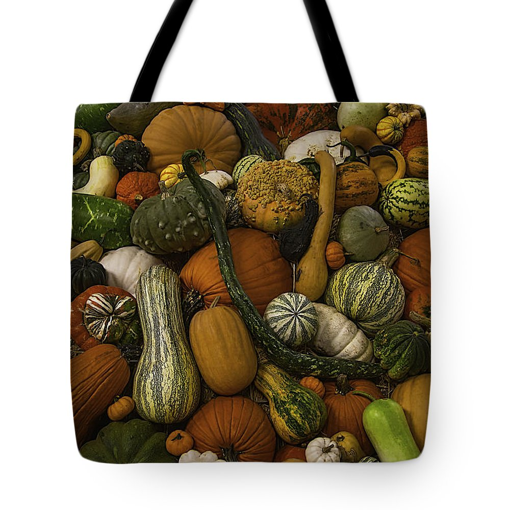 Gourds Tote Bag featuring the photograph Fall Pile by Garry Gay