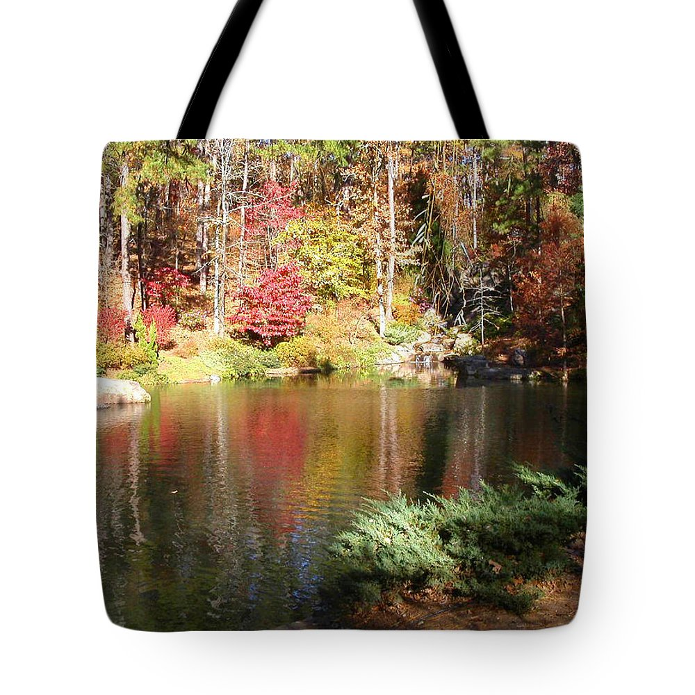 Fall Tote Bag featuring the photograph Fall Reflections by Anne Cameron Cutri