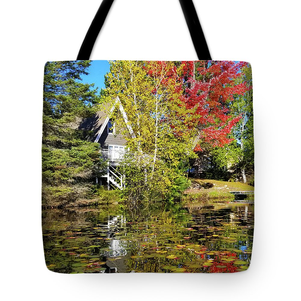 Fall Tote Bag featuring the photograph Fall Reflections by Brook Burling