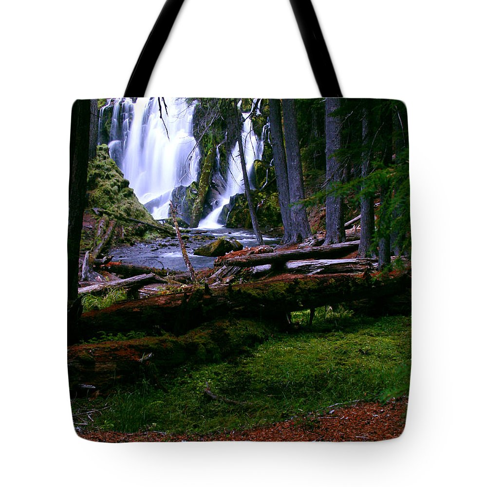 Waterfall Tote Bag featuring the photograph Fall Through by Peter Piatt