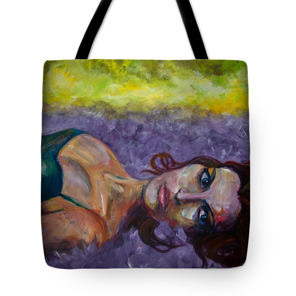 Expressive Tote Bag featuring the painting Fallen by Jason Reinhardt