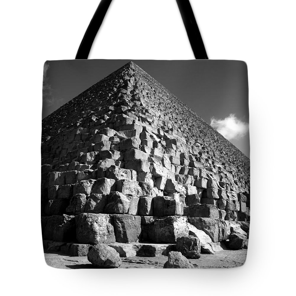 Fallen Stones Tote Bag featuring the photograph Fallen Stones At The Pyramid by Donna Corless