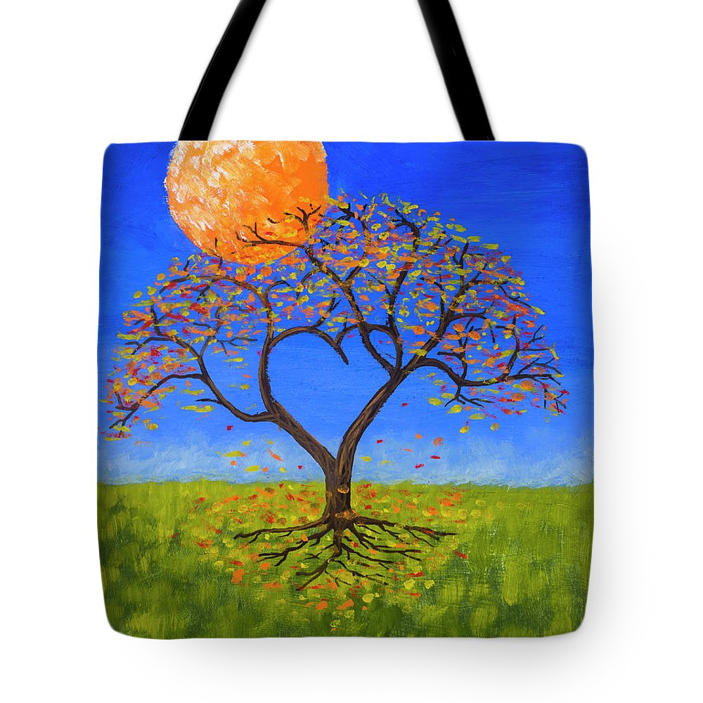 Love Tote Bag featuring the painting Falling For You by Jerry McElroy