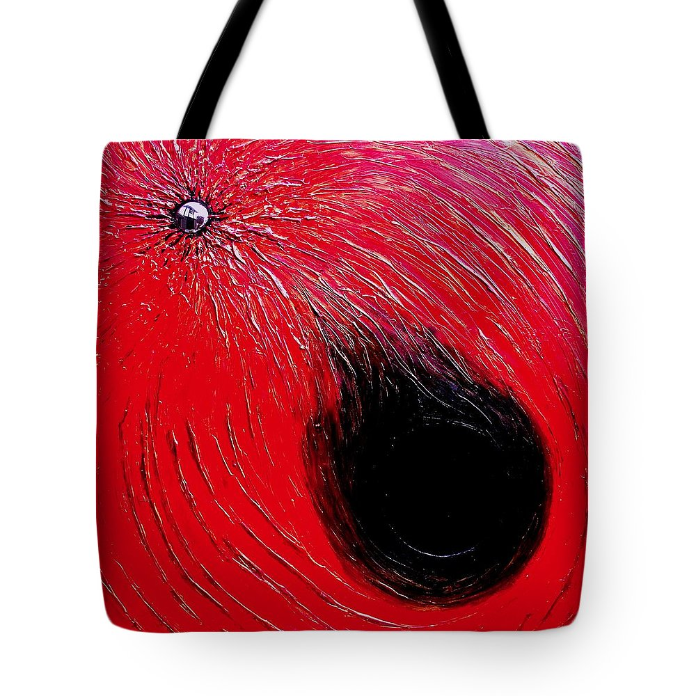 Abstract Tote Bag featuring the painting Falling In to Passion by Ian MacDonald