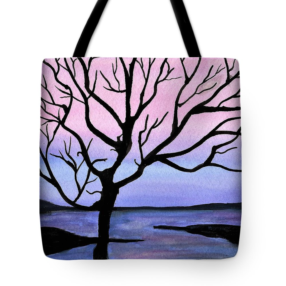 Landscape Tote Bag featuring the painting Falling Sky by Shawn Brandon
