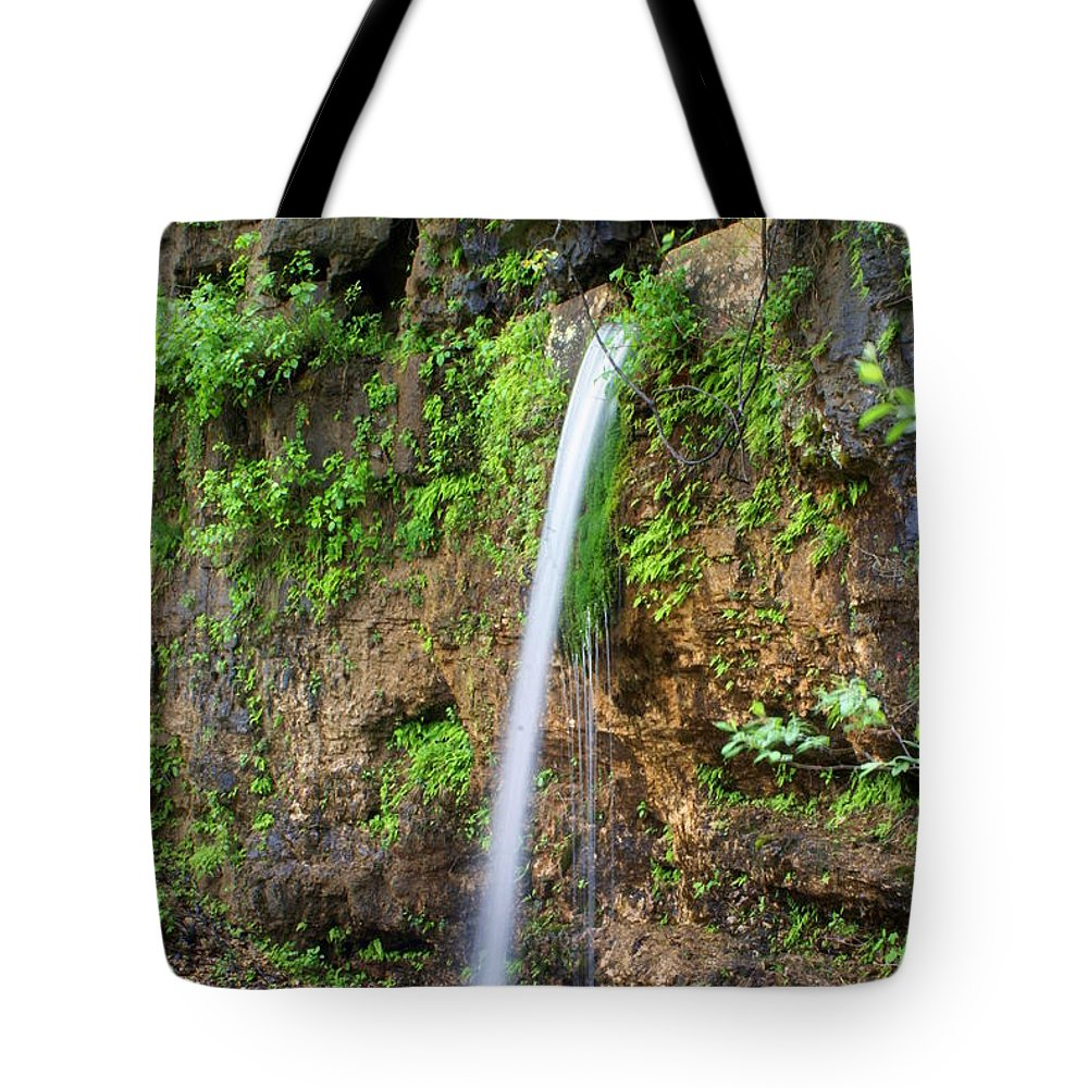 Ozarks Tote Bag featuring the photograph Falling Spring by Marty Koch