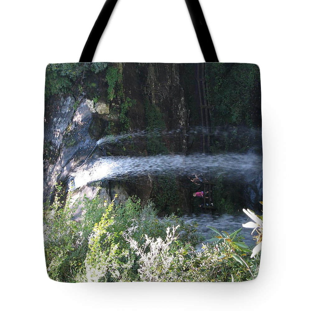 Dryfalls Tote Bag featuring the photograph Falls 1 by Patricia Norton