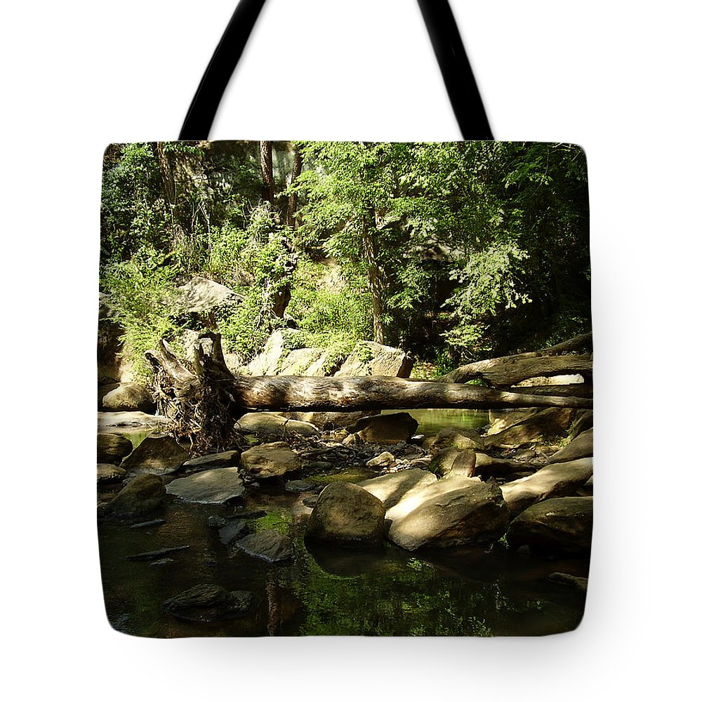 Falls Park Tote Bag featuring the photograph Falls Park by Flavia Westerwelle