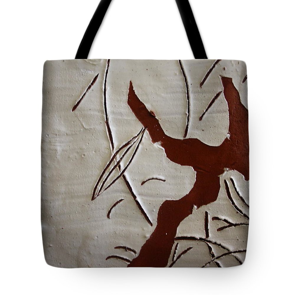 Jesus Tote Bag featuring the ceramic art Family Smile - Tile by Gloria Ssali