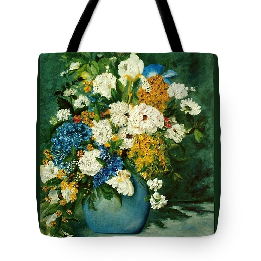 Still Life Tote Bag featuring the painting Family Ties by Susan Dehlinger