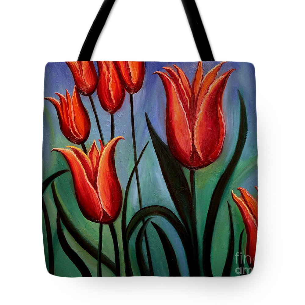 Flower Tote Bag featuring the painting Fanciful by Elizabeth Robinette Tyndall