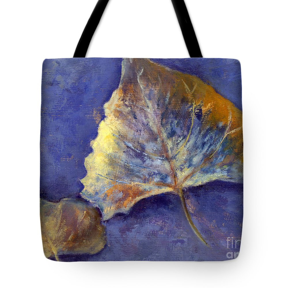 Leaves Tote Bag featuring the painting Fanciful Leaves by Chris Neil Smith