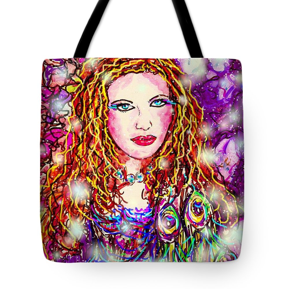 Female Tote Bag featuring the digital art Fancy Lady by Natalie Holland