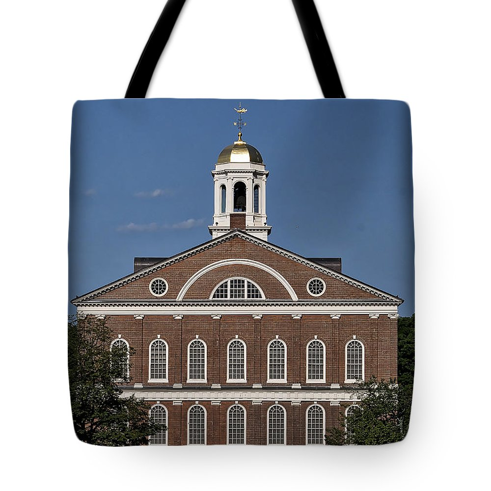 Boston Tote Bag featuring the photograph Faneuil Hall - Boston - Massachusetts by Steven Ralser