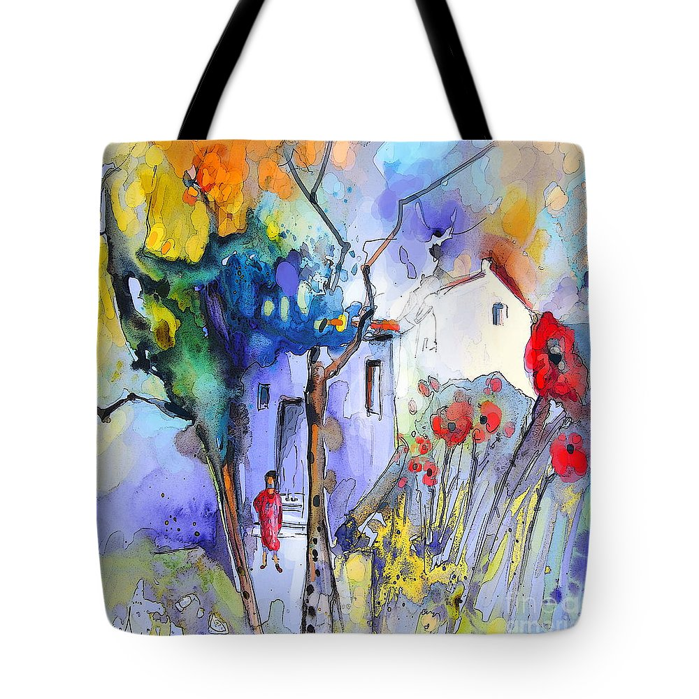 Nature Painting Tote Bag featuring the painting Fantaquarelle 05 by Miki De Goodaboom