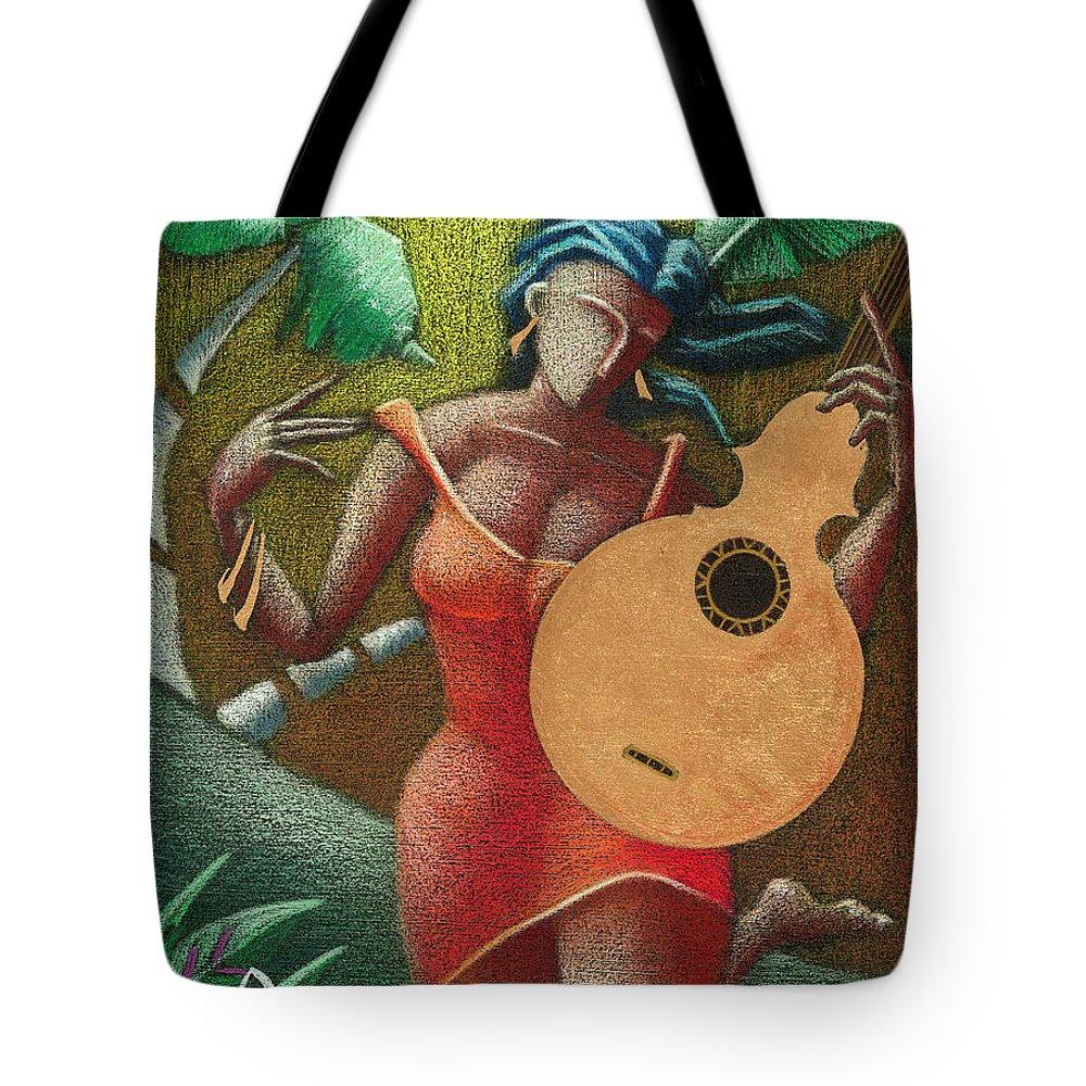 Puerto Rico Tote Bag featuring the painting Fantasia Boricua by Oscar Ortiz