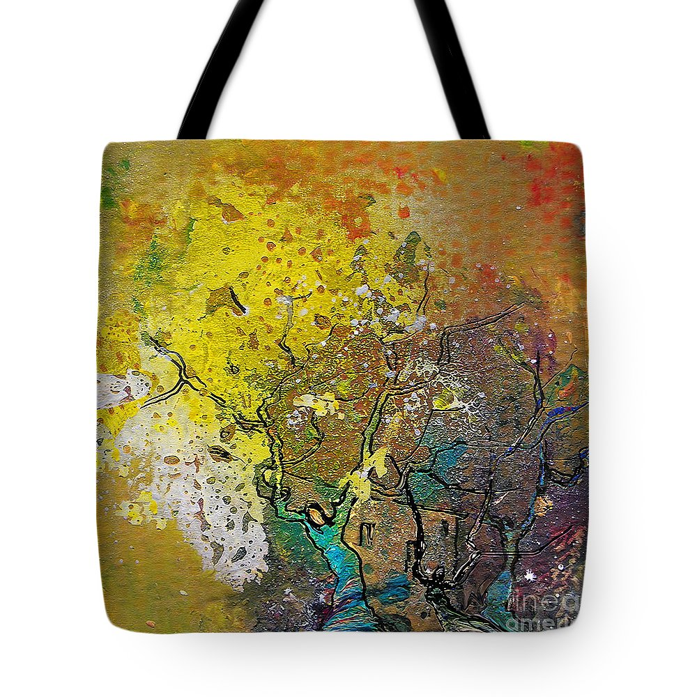 Miki Tote Bag featuring the painting Fantaspray 13 1 by Miki De Goodaboom
