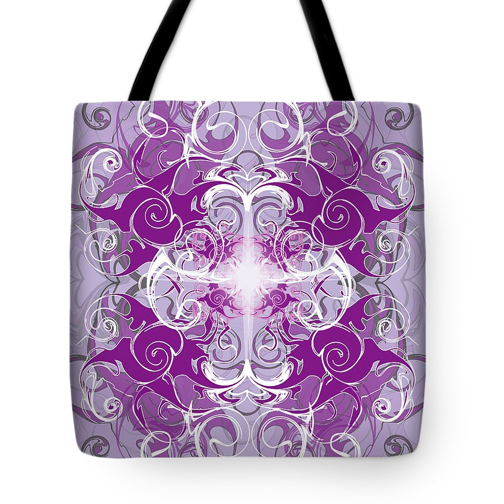 Fantasy Tote Bag featuring the digital art Fantasyvii by George Pasini