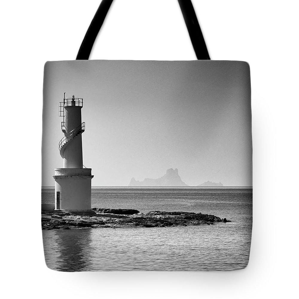 Balearics Tote Bag featuring the photograph Far De La Savina Lighthouse, Formentera by John Edwards