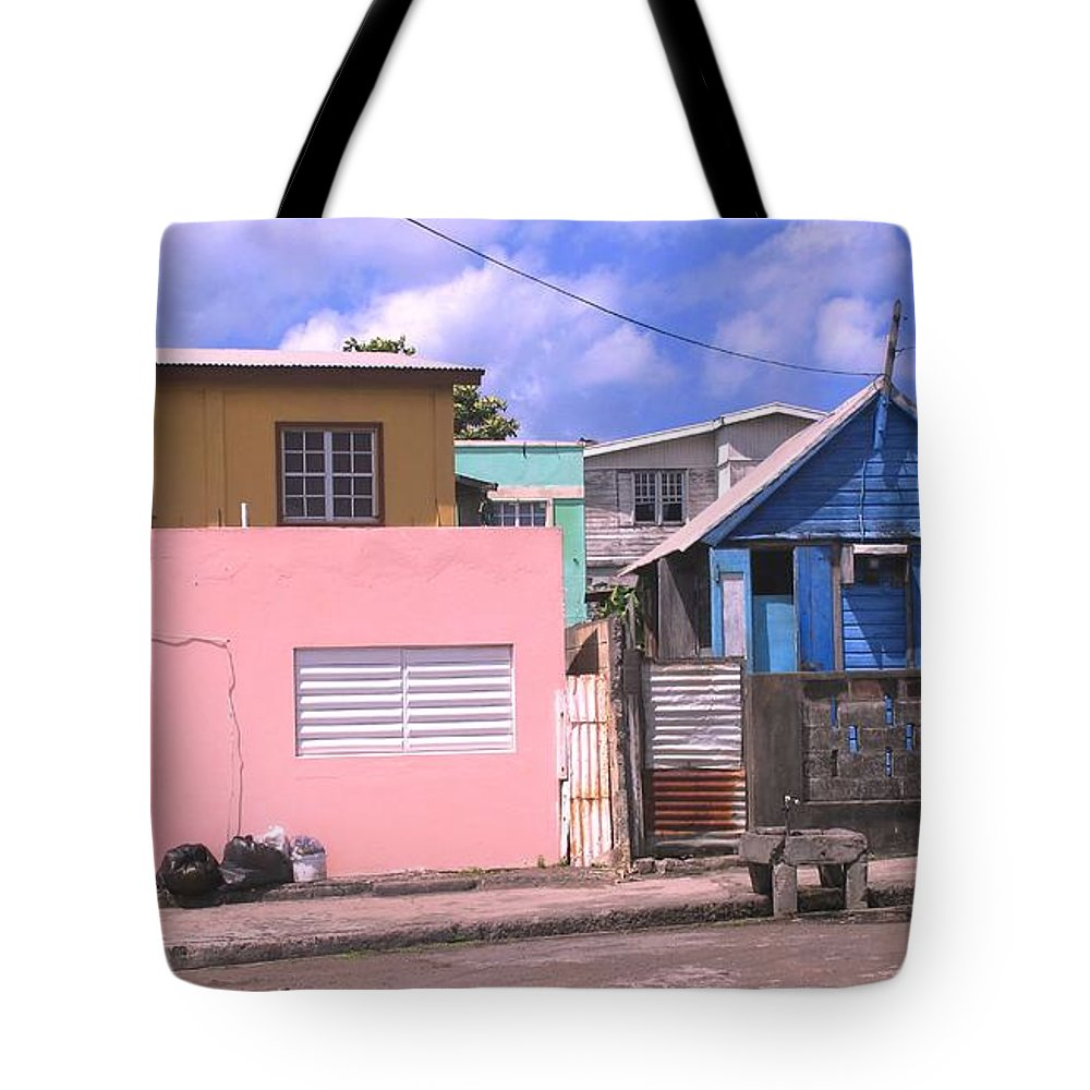 Basseterre Tote Bag featuring the photograph Far From Dull by Ian MacDonald