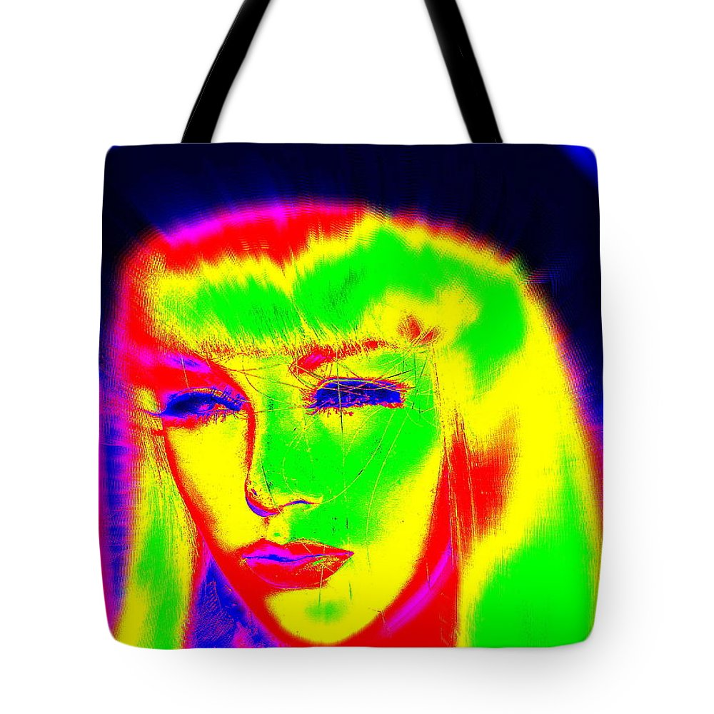 Digital Tote Bag featuring the digital art Far Out Felice by Ed Weidman
