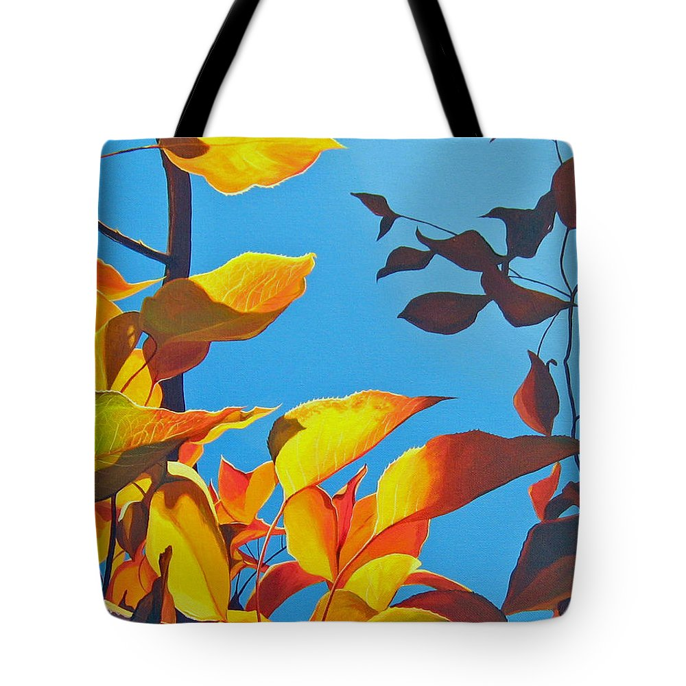 Fall Tote Bag featuring the painting Farewell To Summer by Hunter Jay