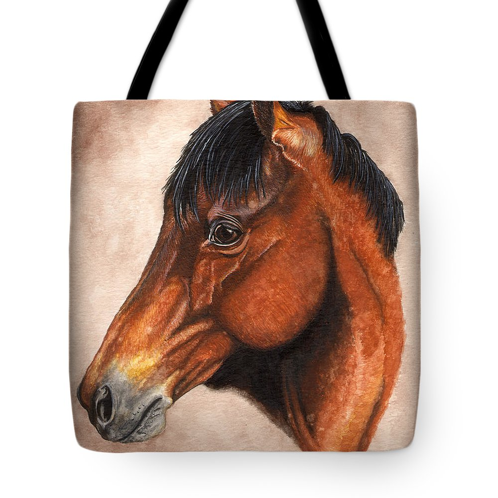 Horse Tote Bag featuring the painting Farley by Kristen Wesch