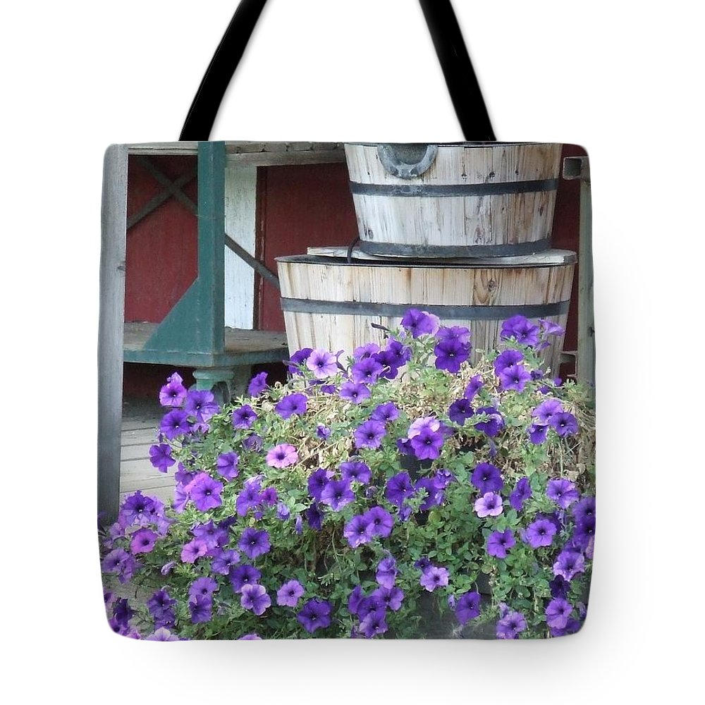 Farm Tote Bag featuring the photograph Farm Flowers by Tiffany Vest