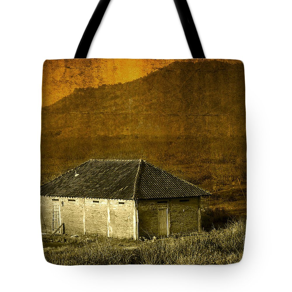 Farm House Tote Bag featuring the photograph Farm House by Charuhas Images