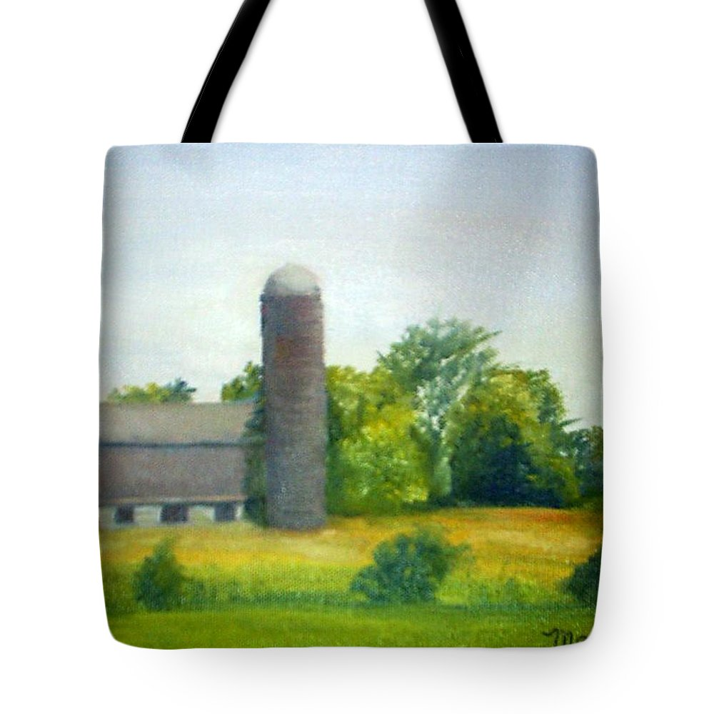 Farm Tote Bag featuring the painting Farm In The Pine Barrens by Sheila Mashaw