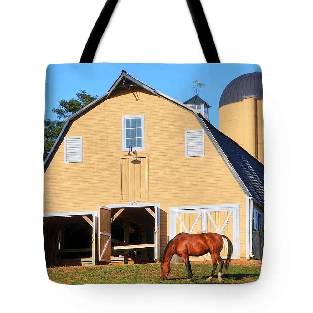 Farm Tote Bag featuring the photograph Farm by Mitch Cat