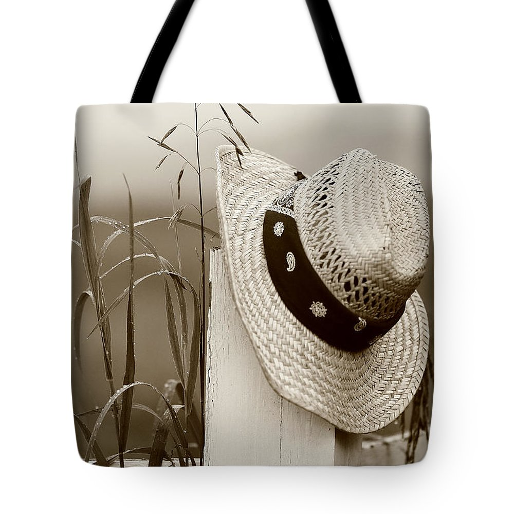 Hat Tote Bag featuring the photograph Farmers Hat by Brian Pflanz