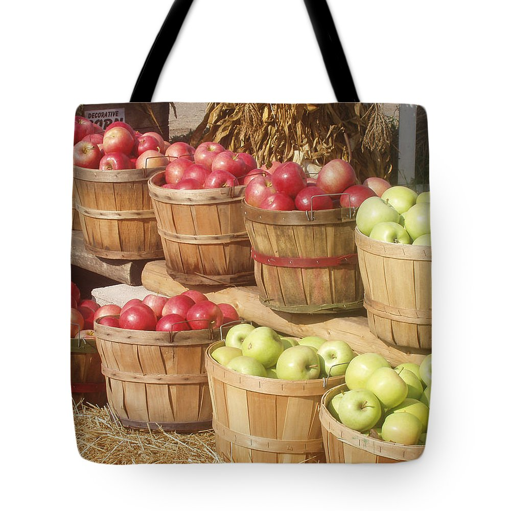 Farmers Market Tote Bag featuring the photograph Farmer's Market Apples by Wayne Potrafka