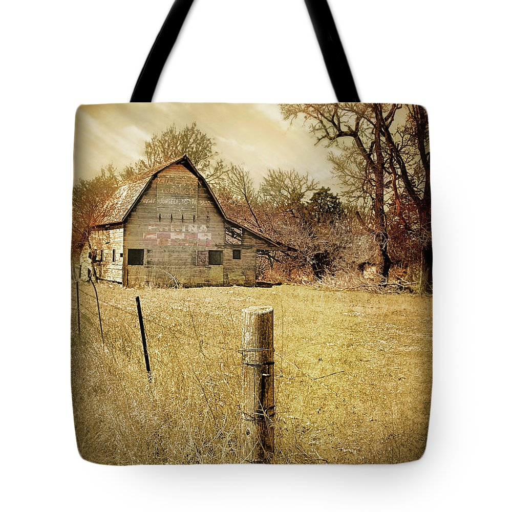 Barns Tote Bag featuring the photograph Farmscape by John Anderson