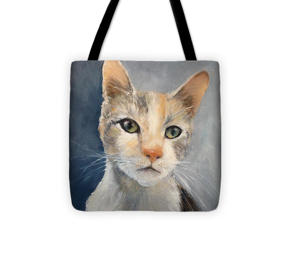 Cat Tote Bag featuring the painting Farmyard Cat by Clodagh Kidd