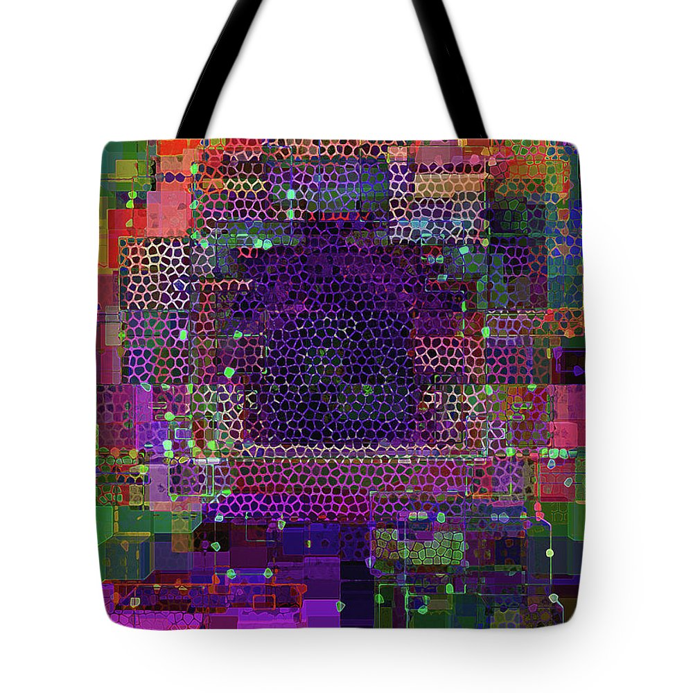 Increments Tote Bag featuring the digital art Fascination 5 by Lynda Lehmann