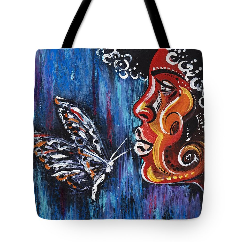 Butterfly Tote Bag featuring the photograph Fascination by Artist RiA
