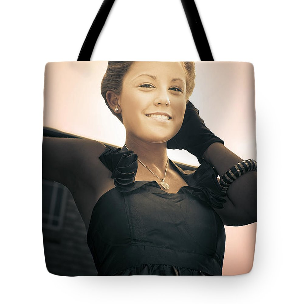 Antique Tote Bag featuring the photograph Fashionable Wealthy Woman by Jorgo Photography - Wall Art Gallery