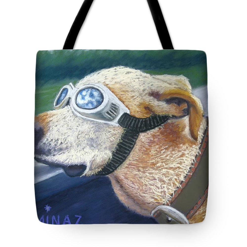 Golden Labrador Tote Bag featuring the painting Fast And Furious by Minaz Jantz
