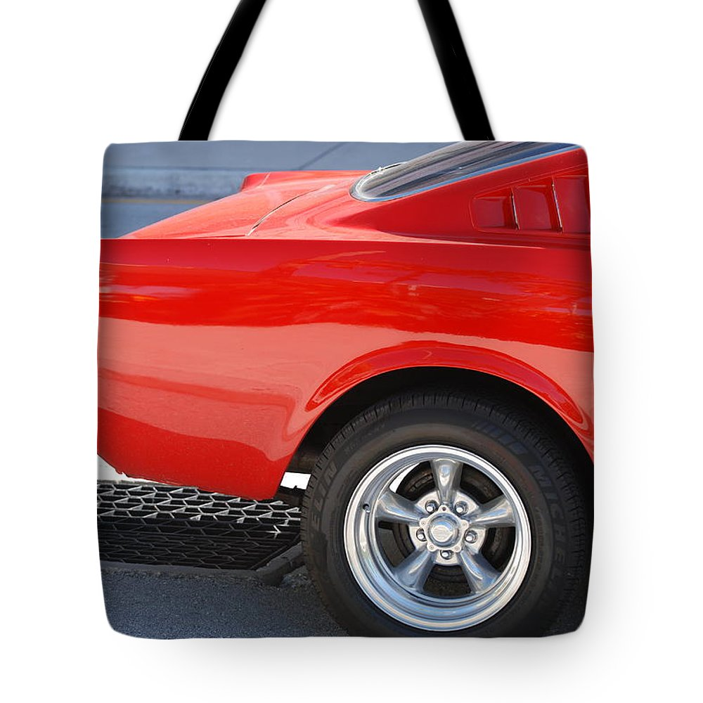 Ford Tote Bag featuring the photograph Fastback Mustang by Rob Hans