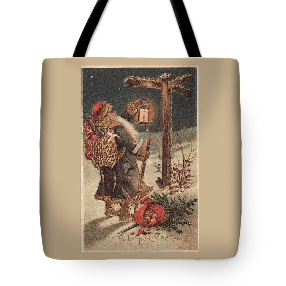 Christmas Tote Bag featuring the photograph Father Christmas by Kristia Adams