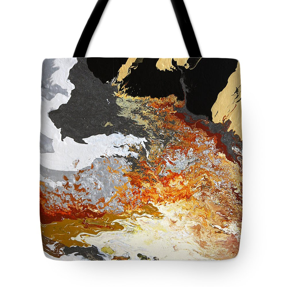 Fusionart Tote Bag featuring the painting Fathom by Ralph White