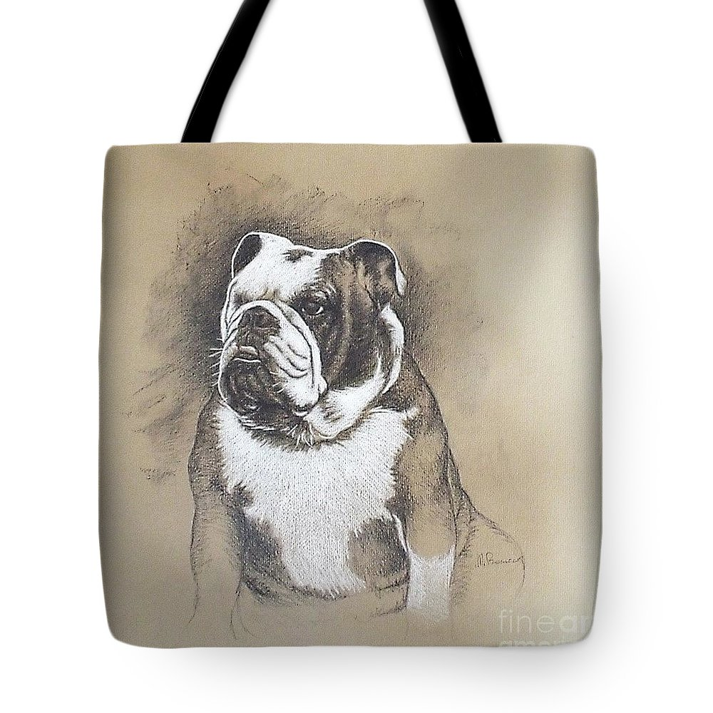 Drawing Tote Bag featuring the drawing Fausto by Marco Barucco
