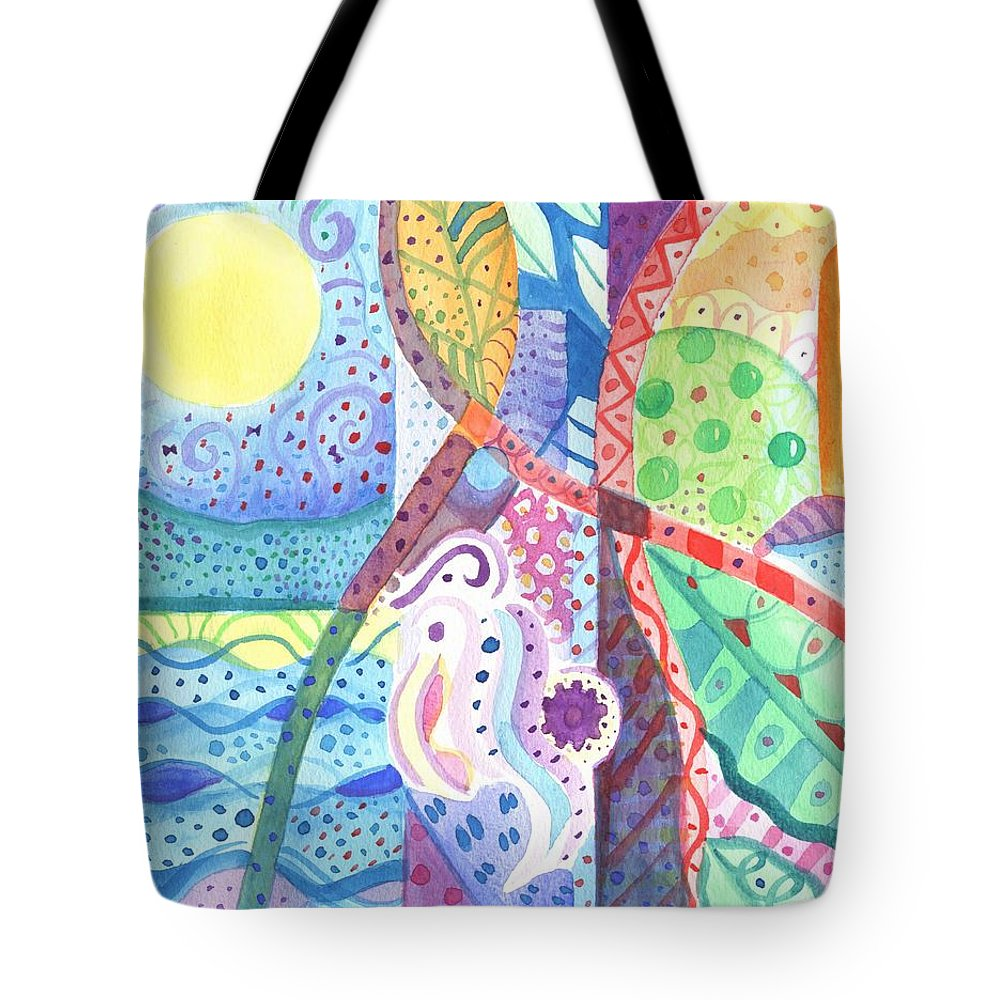 Nature Tote Bag featuring the painting Favorite Things by Helena Tiainen