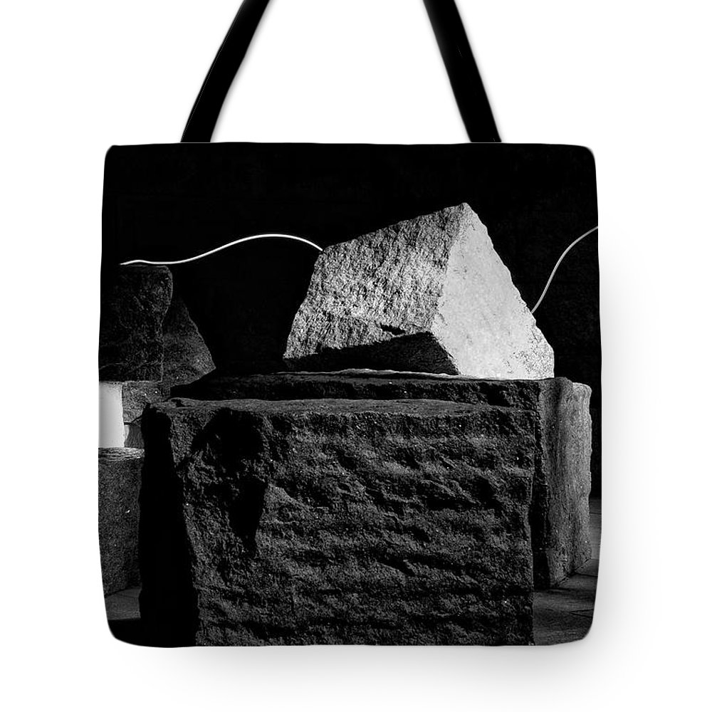 Fdr Memorial Tote Bag featuring the photograph Fdr Memorial Rocks And Light by Paul Basile